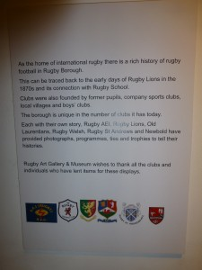 Rugby Library Exhibition
